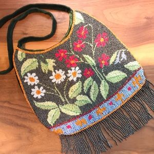 Accessorize - beaded, fringe purse